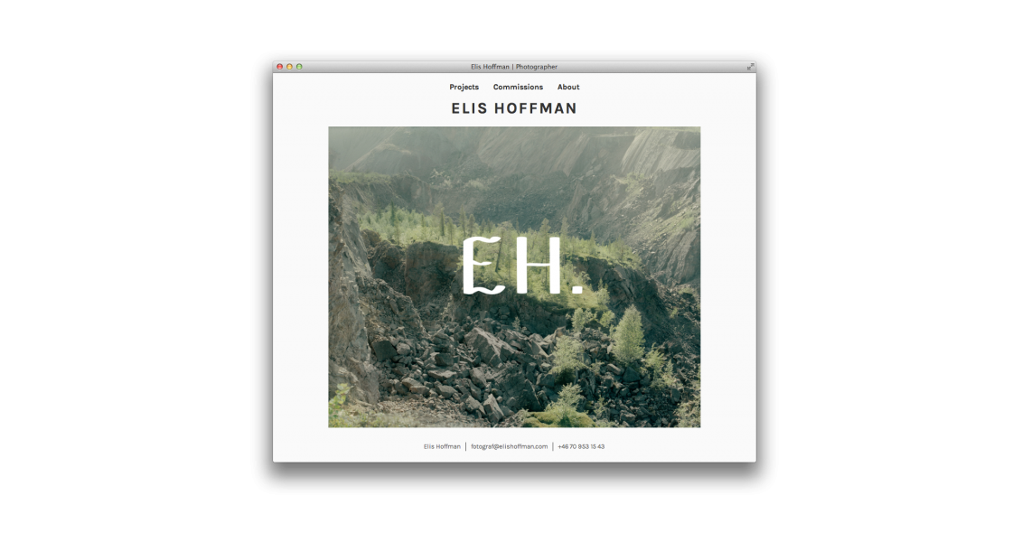 PhotographerElis Hoffman'swork withboth his ownart projects as well ascommissions for magazines, newspapers and book publishers.The starting point forElis'new visual identity was his fascination for the relation between courage and vulnerability.